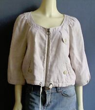 Ett Twa Anthropologie Natural Cropped Drawstring Linen Jacket EttTwa 12