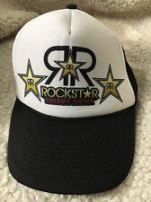 Rockstar Energy Drink Skull Black Mesh Trucker Hat Snapback