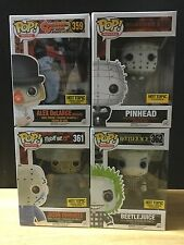 Funko Pop Horror Hot Topic Exclusive Set Of 4 Jason Pinhead Alex Beetlejuice HT