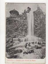 Genova Cascata della Villetta di Negro Vintage Postcard Italy 442a