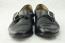 Vito Rufolo Made in Italy Leather Black Dress Shoes size 9M #4390 02 Men's