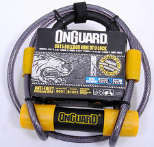 OnGuard Bulldog 8015 Bicycle Mini DT U-Lock with 4-Inch Cinch Loop Cable