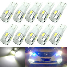 10x T10 W5W 5630 6-SMD LED Car Wedge Side Light Bulb Lamp 168 194 192 158 White