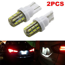 For Car License Plate Lights 2pcs Xenon White 24-SMD T10 168 194 2825 LED Bulbs