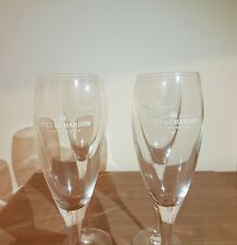 MOET & CHANDON IMPERIAL FLUTE CHAMPAGNE GLASSES × 4