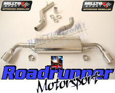 AUDI TT MK2 3.2 V6 MILLTEK EXHAUST CAT BACK NON RES DUAL 100MM JET SSXAU258
