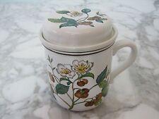 1 Villeroy & Boch Botanica große Teetasse Henkelbecher Kaffeebecher Deckel Sieb