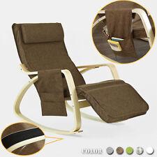SoBuy® Balançoire Fauteuil chaise à bascule relax, Rocking chair, FST18-BR FR