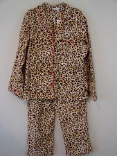 Pajama Set Size Small Flannel Animal Print Pajamas with Red Accents