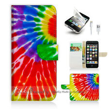 iPhone 5 5S Print Flip Wallet Case Cover! Cool Gay Pride Colour Circle P0198