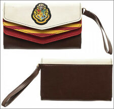 Harry Potter Hogwarts Crest 3 Fold Envelope Wallet with Wristlet Clutch Purse