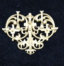 MAGNIFICENT 19C ENGLISH 18K ROYAL CREST BROOCH MADE BY JOHN BROGDEN