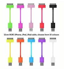 Cable de datos USB Sync Carga Corto Plomo Para Apple iPod iPhone 4S 4 4G 3 gsipad 2,3