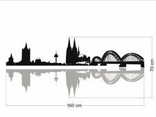Köln Skyline mit Schatten Wandtattoo, Verklebegröße: 160x70cm, No.40.776/160