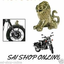 Brass Sitting Lion Bike Front Mudguard Fender Decorative Royal Enfield Bullet.