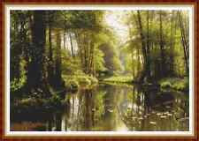 """'REFLECTIONS IN A GLADE' Cross Stitch Chart/Pattern (18½""""x12½"""") Detailed NEW"""