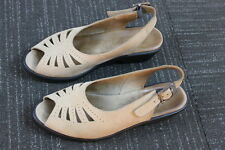 Women's brown Tan leather walking company Sling Back straps Summer Sandals 7.5