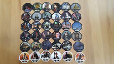 REWE DISNEY STAR WARS COSMIC SHELLS alle 36 Sticker Karten Sammelbilder NEU