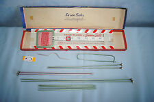 Susan Bates Knitting Kit 3 sets single point needles stitch marker holder EUC