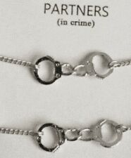 2 Handcuff Partners ( In Crime) Bracelets Womens Gift - BFF Pendant JewelryyZff