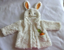 Gund Baby Boy Girl 6-12 Months White Rabbit Easter Bunny Coat Jacket Costume Top