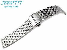 22mm SOLID POLISH HEAVY STAINLESS STEEL WATCH BRACELET WRISTBAND NEW Polishing