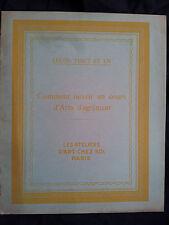Les ateliers d'art chez soi Comment ouvrir un cours d'arts d'agrément 1930