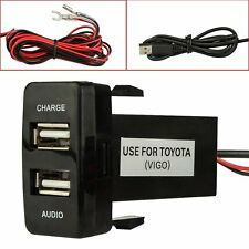 Dual USB Charger Audio Port Interface for Toyota Scion Car Blank Switch Hole US