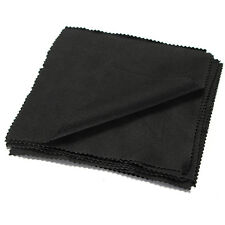 10pcs Microfiber Phone Screen Camera Lens Glasses Square Cleaning Cloth Black