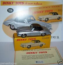 DINKY TOYS ATLAS MERCEDES-BENZ 190 SL BICOLORE GRIS METAL 1/43 REF 526 IN BOX