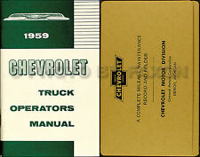 1959 Chevy Truck Owners Manual with Envelope 59 Chevrolet Pickup Suburban Cameo