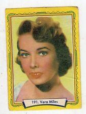 figurina - LAMPO ATTORI 1957 - numero 191 VERA MILES