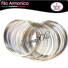 1 bobina di filo armonico 10 spirali da 55mm colore acciaio minuteria bijoux