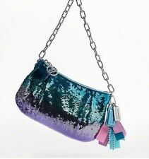 NWT COACH POPPY BLUE PURPLE OMBRE SEQUIN CHAIN EVENING BAG- RARE!
