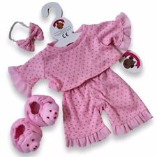 TEDDY Bear Vestiti FIT Build a bear orsetti rosa piggy PJ's Pigiami MAIALE Pantofole