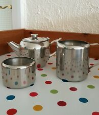 Stainless Steel Teapot Set with Sugar and Milk Jug