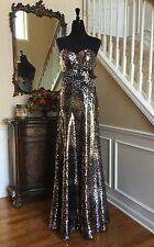 Gorgeous Pageant Prom Tony Bowls Black/Silver Mermaid Formal Gown Size 6 Dress