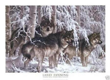 Larry Fanning Crystal Forest Wolf Wolves Snow Art Print Poster 36x26