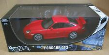 Hot Wheel Porsche GT3 Coupe Red Car Vehicle Die Cast 1:18 Scale New in Box B6056