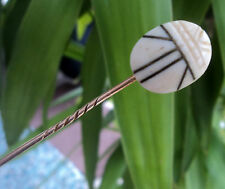 Vintage Celluloid Scarab Beetle Insect Art Deco Stickpin / Stick Pin c.1920s