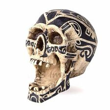 Gothic Tribal Realistic Skull Head Open Mouth Ashtray Halloween Decoration 68775