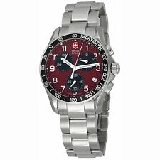 Victorinox Swiss Army Men's 241148 Chrono Classic Red Dial Watch chronograph NEW