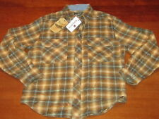 NWT WOOLRICH MINERS WASH FLANNEL plaid button front SHIRT style 6114 MENS S