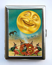 Moon Witches Cigarette Case Wallet Business Card Holder halloween victorian