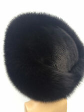 Fox and Black Mink Fur Fur Full Hat. TOP Quality Real Genuine Saga Fur.