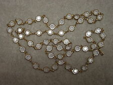 SWAROVSKI VINTAGE NECKLACE SPARKLING CLEAR CASED BEZEL SET CRYSTAL BEADS