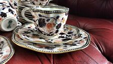 RARE BEAUTIFUL ANTIQUE COALPORT IMARI COBALT GILT & RED TRIO 1883 CUP SAUCER T