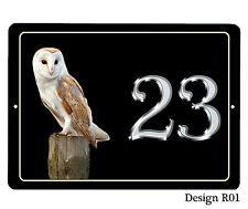 House, porte nom/numéro/route bird design plaque/signe/plaque 7 x 5 pouces en aluminium