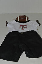 Build A Bear Clothing~Football ATM Texas Tee Shirt~Black Pants~Brown Football~G4