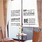 Vinyl Wall Decal Quote In this House We Are Family Text Stairs Decor Sticker HG